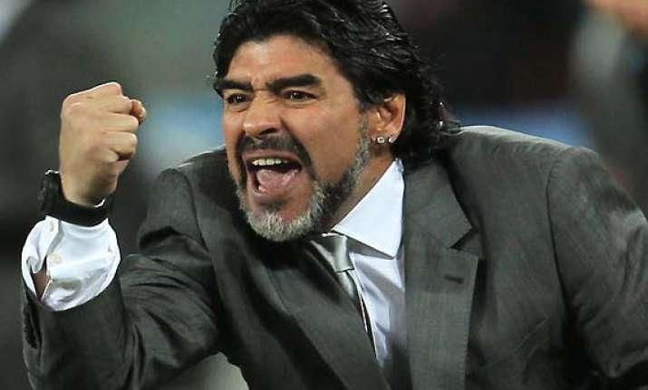 maradona may take over as iraq soccer coach