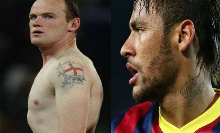 meet your favorite fifa 2014 stars flaunting their body art