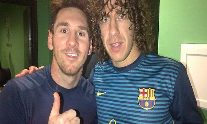 messi and puyol back for milan and madrid matches
