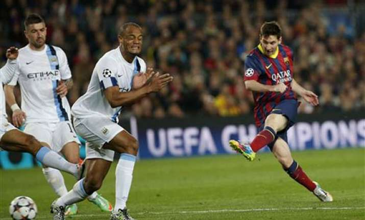 messi guides barca past city into champs