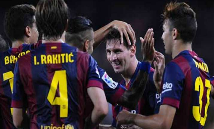 messi scores twice to start campaign in spain