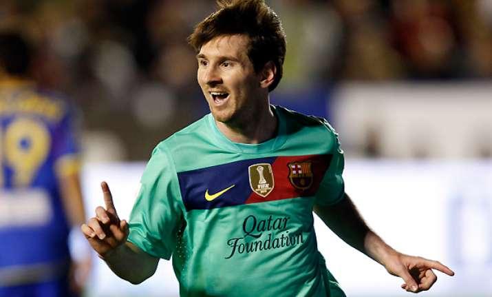 messi equals ronaldo s record 41 goal mark