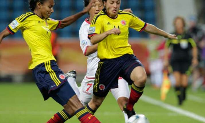 nkorea colombia draw 0 0 at women s world cup