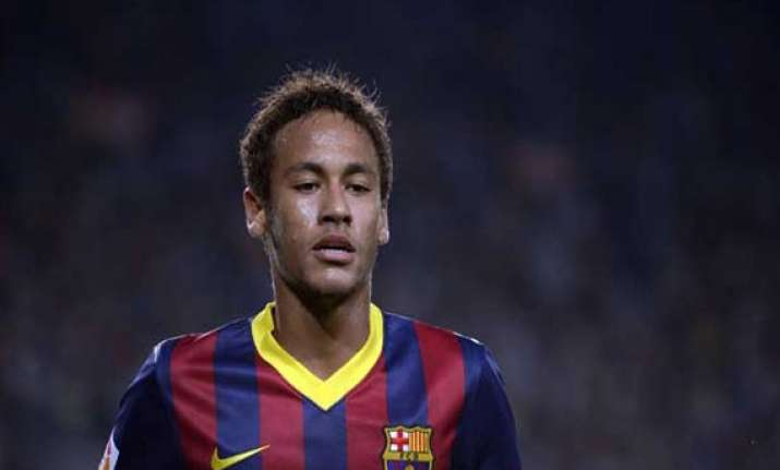 neymar back in training for barcelona
