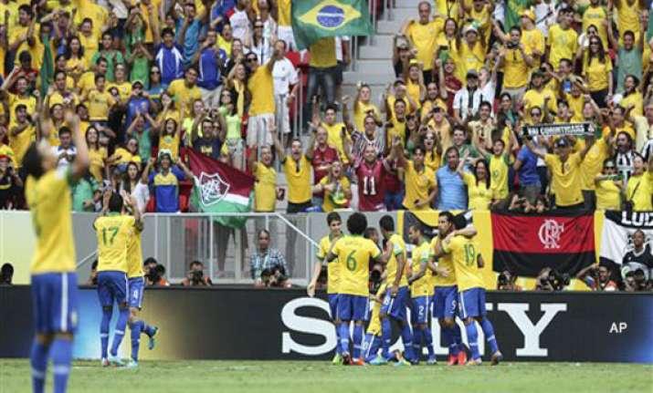neymar inspires brazil to 2 0 win over mexico
