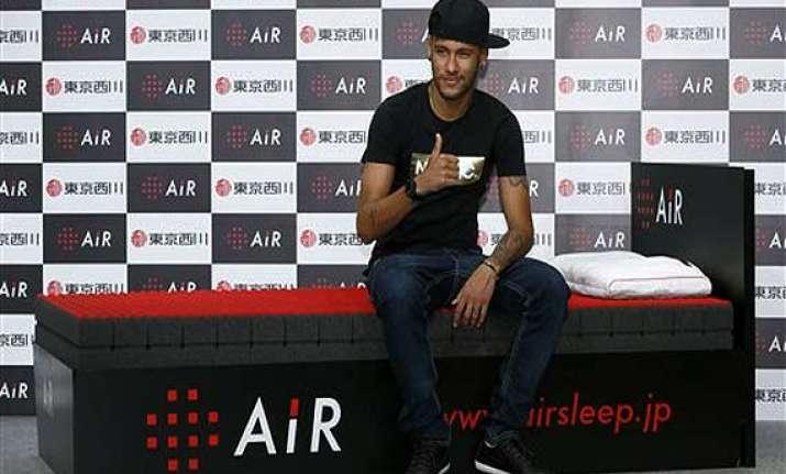 neymar says back improving during japan trip