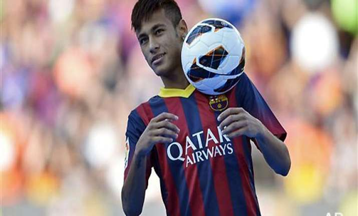 neymar signs 5 year contract with barcelona