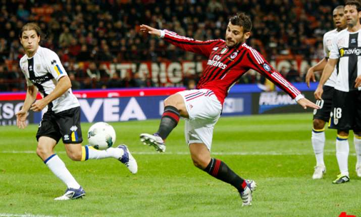 nocerino s hat trick gives ac milan 4 1 win