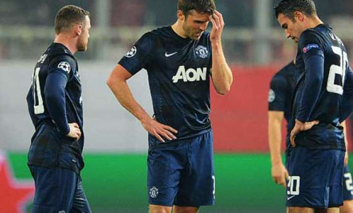 olympiakos beat manchester united at champions league