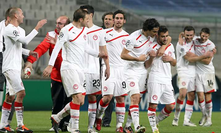 olympiakos downs marseille 1 0 in champions league