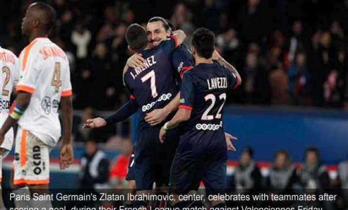 psg beats valenciennes 3 0 in french league
