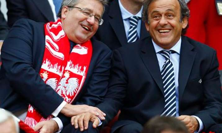 platini unhappy with croatia fans at euro 2012