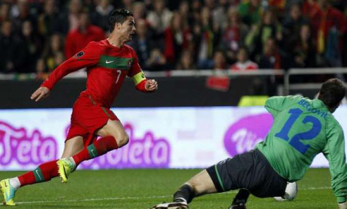 portugal scores 6 2 win ronaldo scores twice