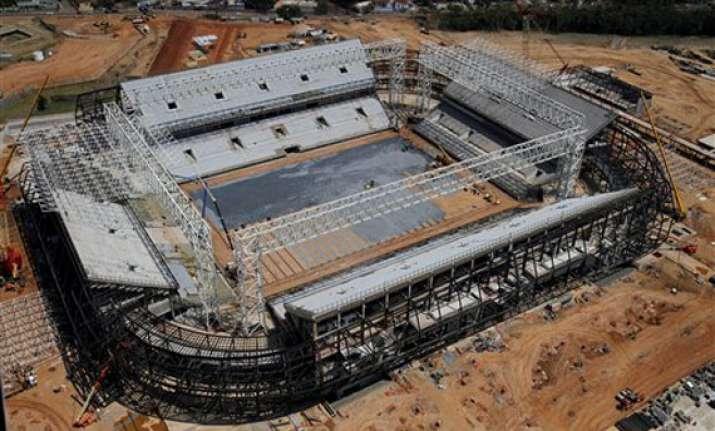 protesters disrupt fifa visit to stadium in brazil
