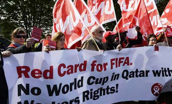 qatar will keep major soccer event amid protests world cup
