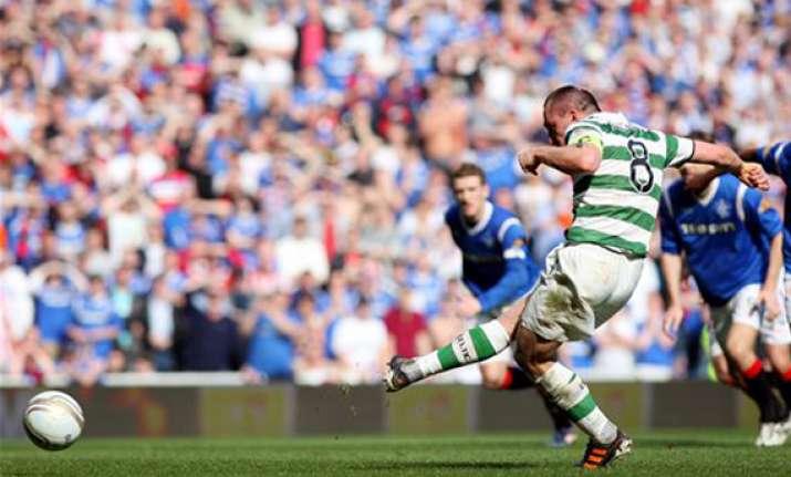 rangers 2 1 win makes celtic wait for spl title