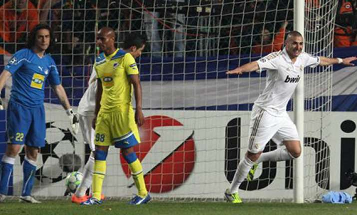real madrid takes 3 0 lead over apoel in first leg