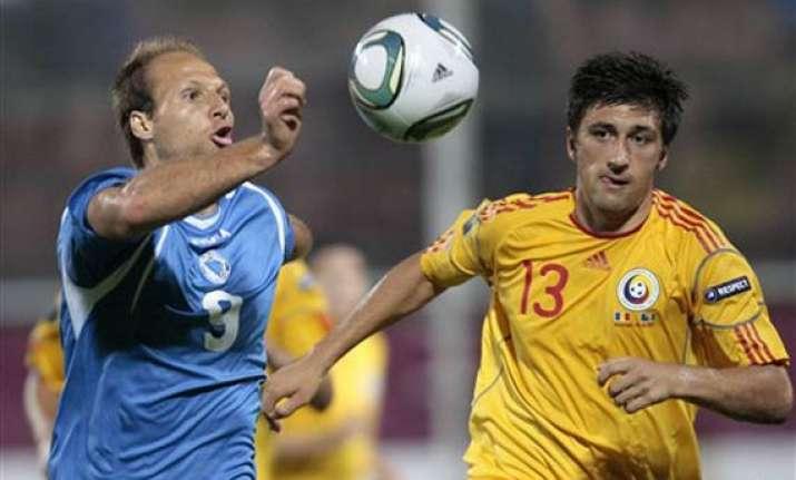 romania beats bosnia 3 0 in euro qualifier