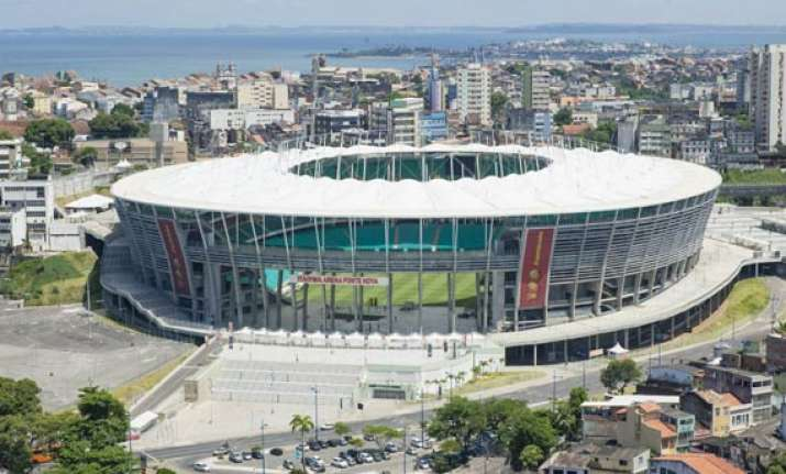 salvador stadium faces last minute preparations