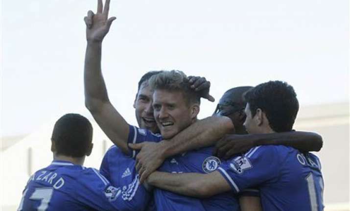schuerrle s treble gives chelsea 3 1 win at fulham