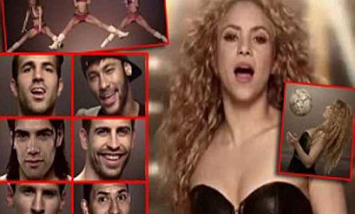 shakira releases video for 2014 world cup featuring gerard