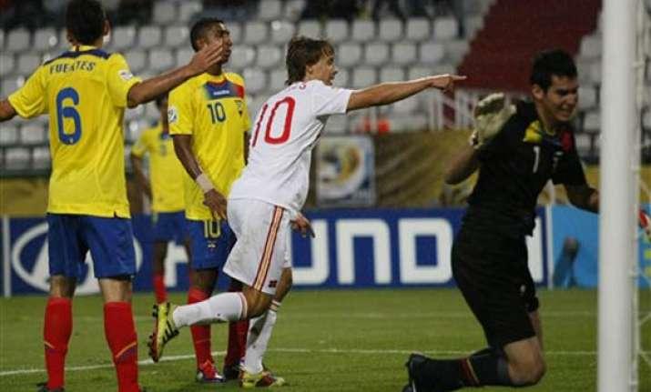 spain beats ecuador 2 0 in under 20 world cup