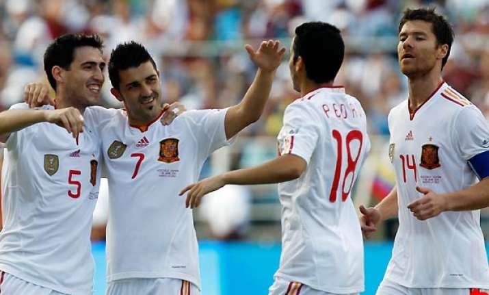 spain defeats venezuela 3 0 in friendly