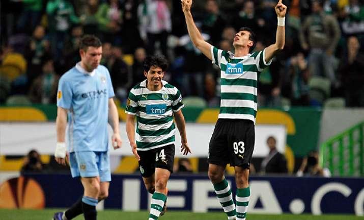 sporting lisbon beats manchester city 1 0 in europa league