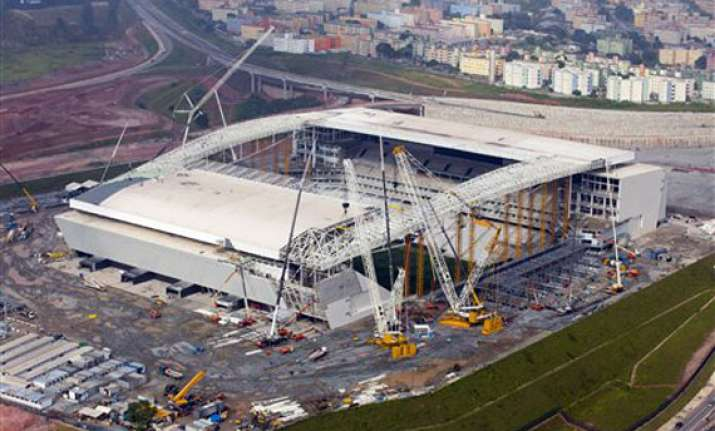 stadium roof won t be finished for world cup opener