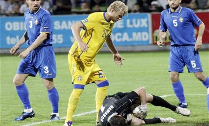 sweden beats moldova 4 1 in euro 2012 qualifier