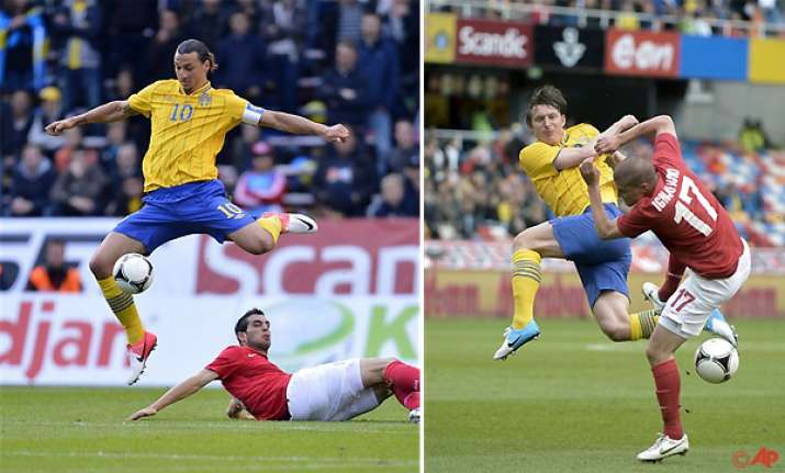 sweden beats serbia 2 1 in pre euros friendly