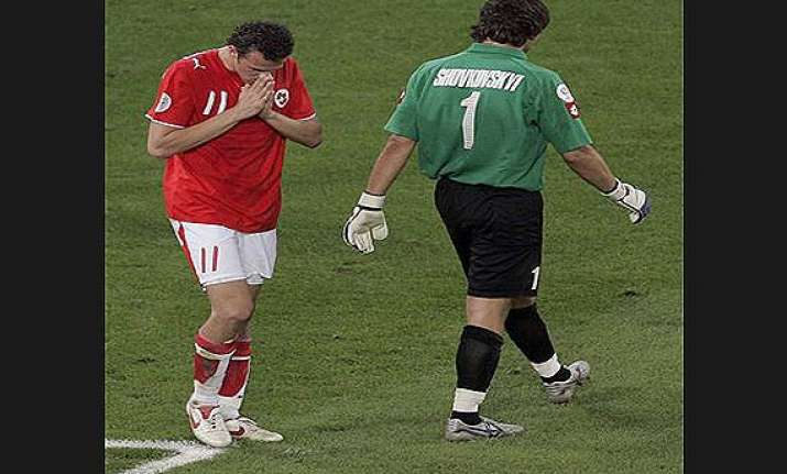 this day that year switzerland exits 2006 world cup without