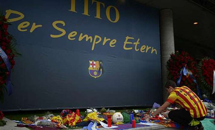 thousands gather in memory of barcelona s coach tito