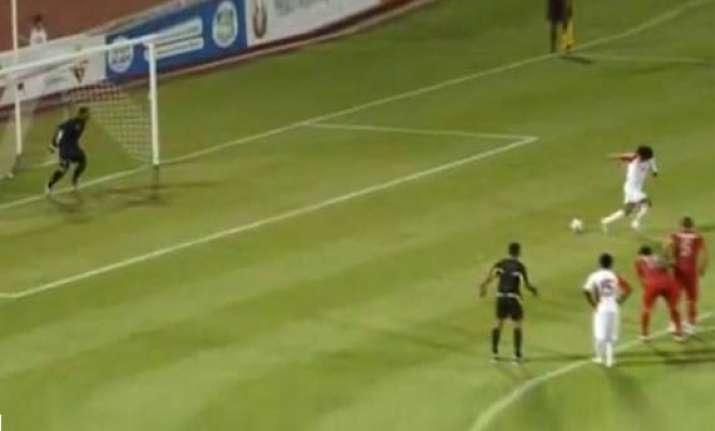 uae player in trouble for backheeled penalty