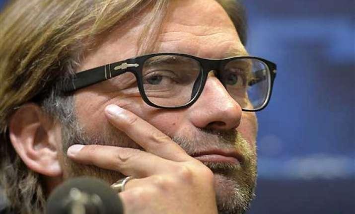 uefa bans dortmund coach klopp for 2 matches