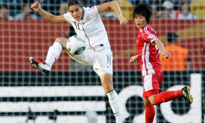 usa beat north korea 2 0 in women s world cup