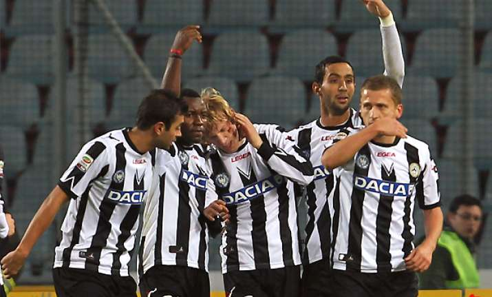 udinese faces serie a leader juventus