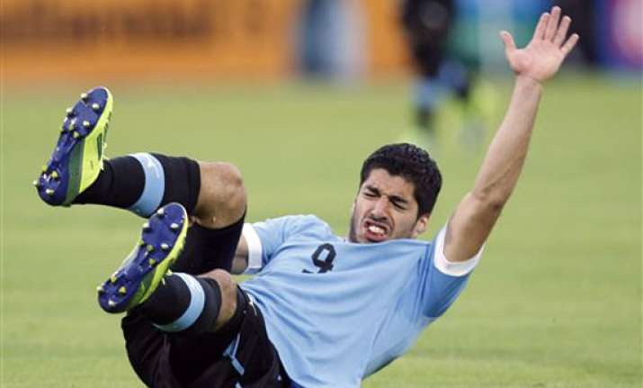 uruguay striker suarez has surgery ahead of world cup