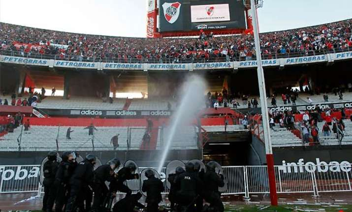 violence riots break out as river plate relegated