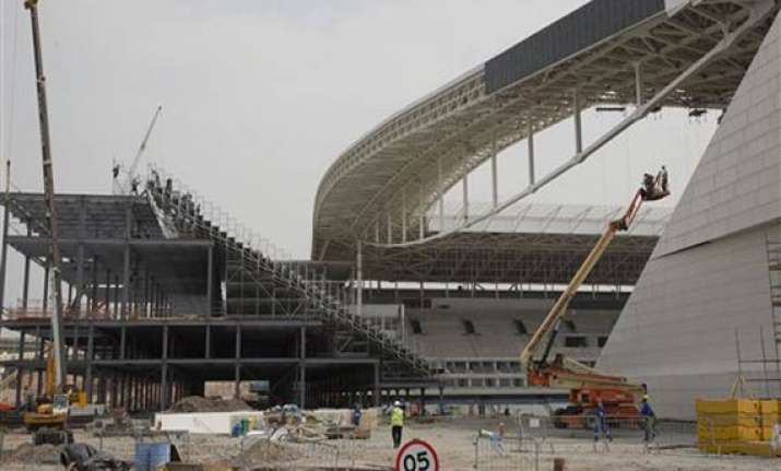 work resumes at stadium hosting world cup opener