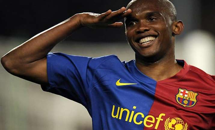 world cup play off retired eto o comes back for cameroon