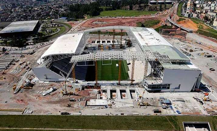 world cup stadium unfinished for opening.