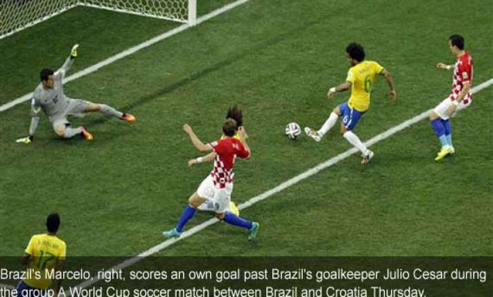 fifa world cup marcelo scores brazil s first own goal