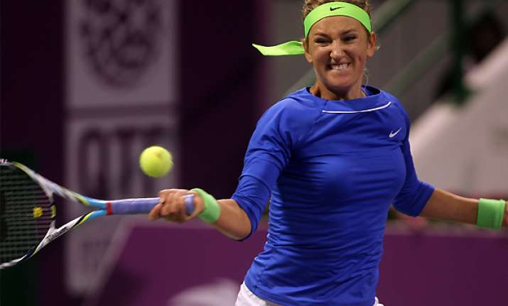 azarenka beats halep to reach qatar open quarters