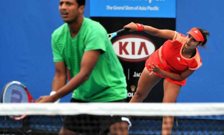 bhupathi sania outsted from aus open mixed doubles
