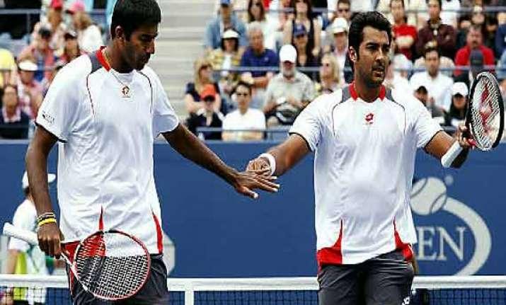 bopanna qureshi suffer first round defeat in us open
