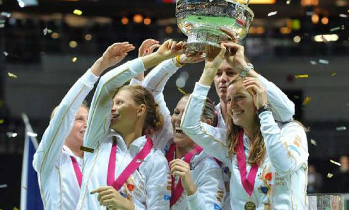 czechs retain fed cup title with 3 1 win vs serbia