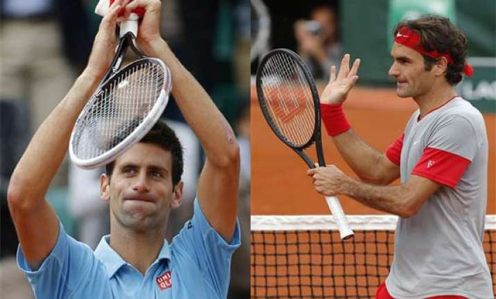 djokovic federer reach french open 4th round
