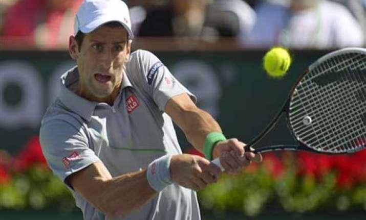djokovic isner reach bnp paribas open semifinals