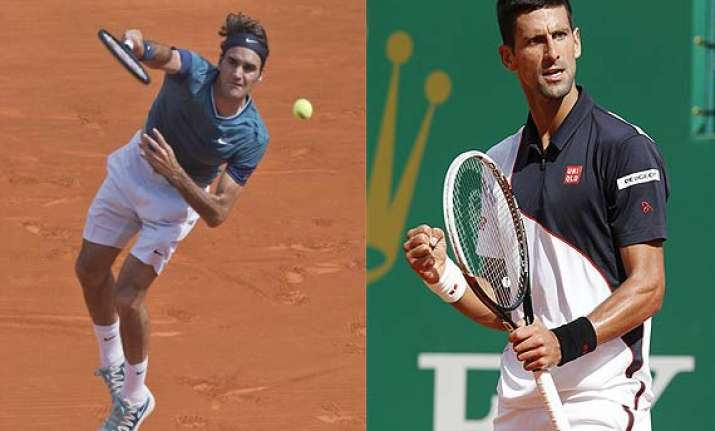 djokovic to vie with federer for spot in monte carlo final